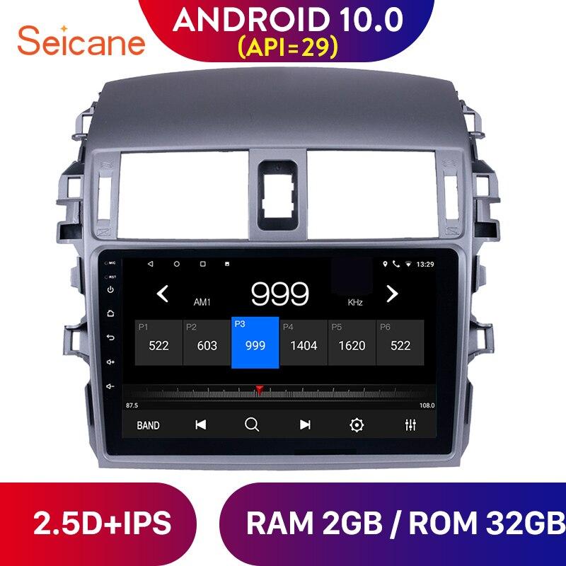 Seicane-lecteur dunité de tête 9 pouces   Android 10.0, pour 2007 2008 2009 Toyota ancienne Corolla autoradio GPS Navigation avec SWC
