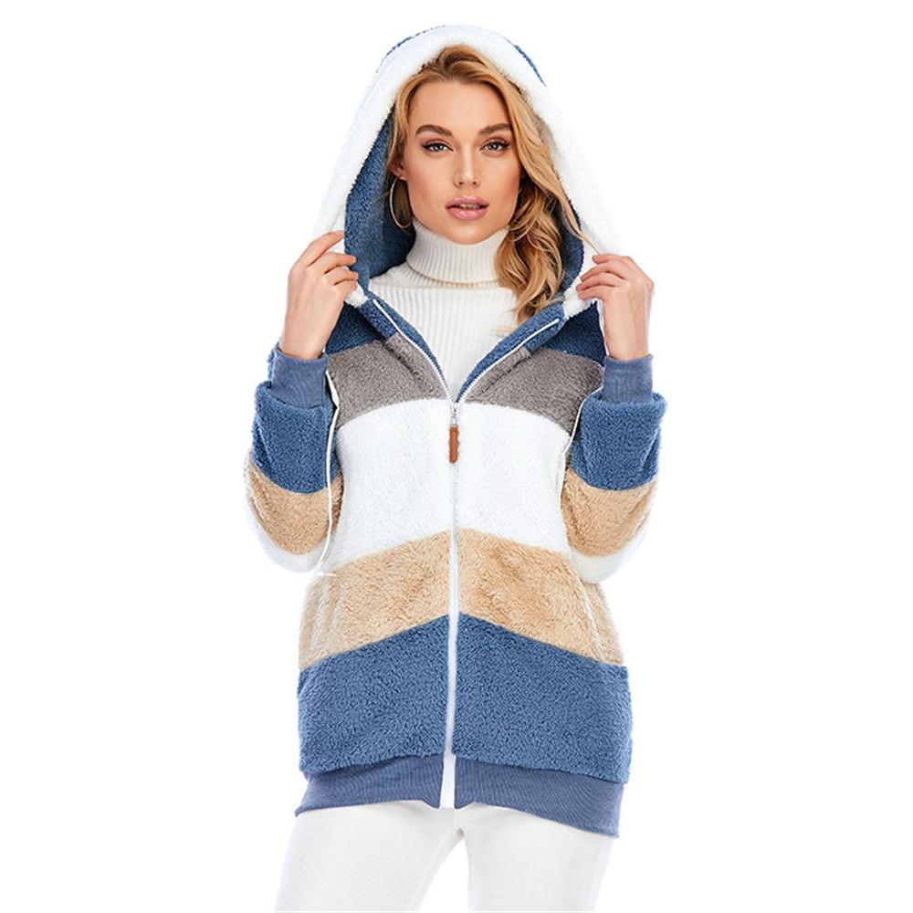 Women Teddy Coat Hooded Fluffy Cardigan Plus Size 5XL Sherpa Tops Winter Warm Streetwear Teddy Fleece Jacket