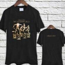 Uriah Heep Wonderworld Album Black TShirt Tee Shirt