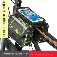 new fashion high capacity bicycle frame bag tpu touch screen phone holder for mtb saddle bag reflective cycling basket night