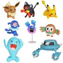 Pokemon elfe Pokémon détective Pikachu figurine bataille collectionneur lot de 8 modèle décorations Anime Figure jouet pour enfants cadeau