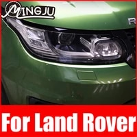 for land rover range rover sport vogue velar evoque l494 l405 discovery 5 sport car tpu smoked black headlights protector film