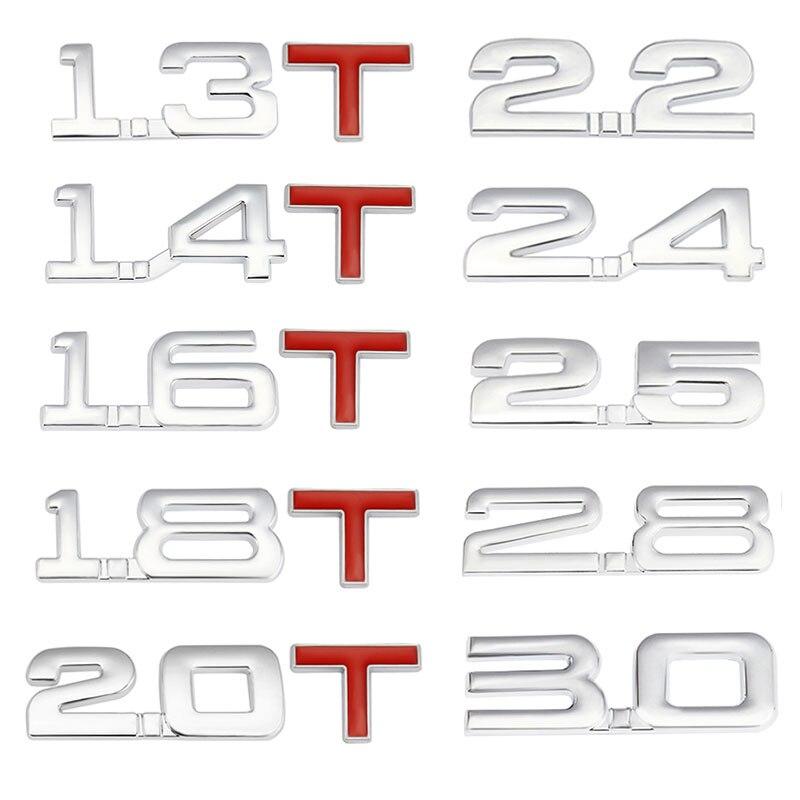 Etiqueta do carro auto emblema turbo decalque para bmw mercedes ford audi toyota honda chevrolet cadillac mazda 1.6t 1.8t 2.2t 2.5t 3.0t
