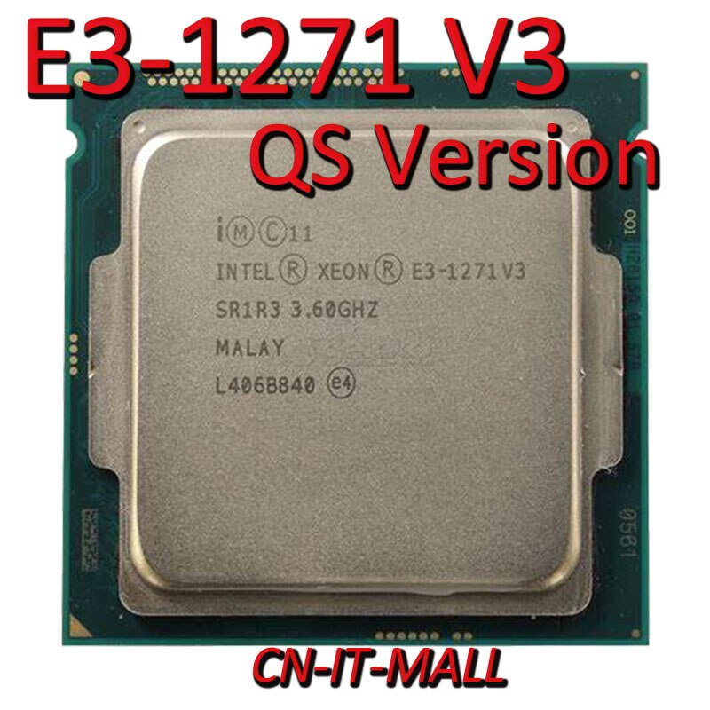 Тянул процессор Xeon E3-1271 V3 QS 3,6 GHz 8MB 4 Core 8 thres LGA1150