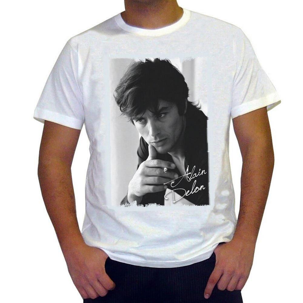 Alain Delon 1 camiseta Homme... Manches Courtes de Coton Blanc Cadeau de...