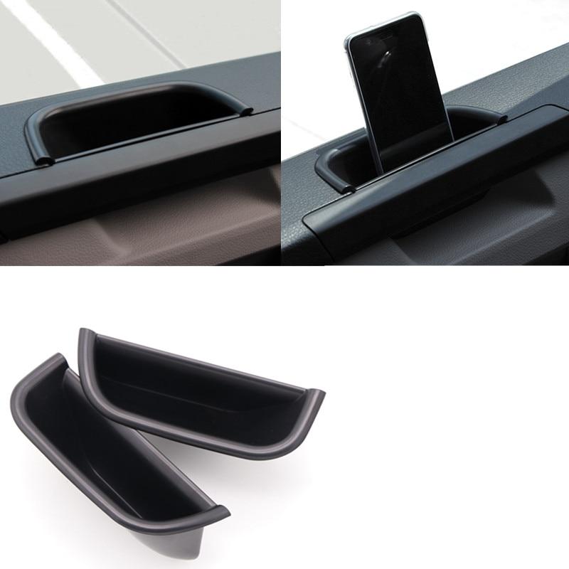 Para Volkswagen Transporter (T6) Caravelle 2017-2018 con los accesorios de la estera Interior para puerta frontal del coche caja organizadora 2 uds
