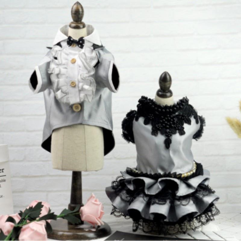 Cute Dog Princess Dress Tutu Skirt Puppy Pet Cat Luxury Princess Wedding Party Dress Dog Tuxedo Chihuahua Clothes