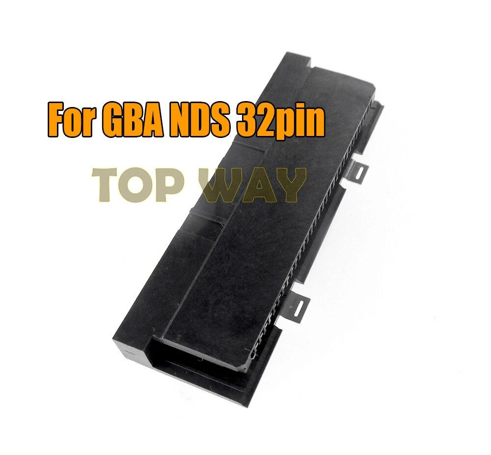 Para GBA NDS slot 32pin cartucho lector de tarjetas ranura para Nintendo DS NDSL cartucho de juego/lector de tarjetas pieza de reparación