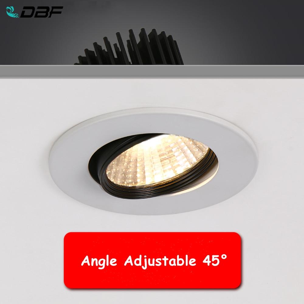 DBF-foco LED COB ajustable de ángulo de 2020, luces empotradas de techo,...