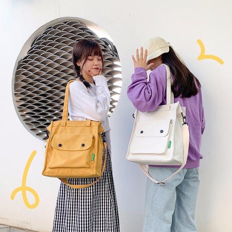 Sacos crossbody para as mulheres 2020 nova moda quente do sexo feminino casual básico lona bolsas de ombro sacos mensageiro