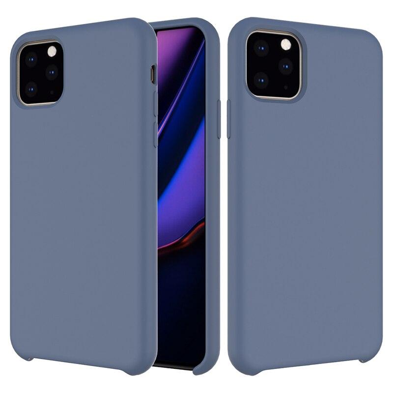 De silicona líquida de caso para IPhone X XS X MAX XR para IPhone11 Pro Max 7 6s 8 Plus suave Tpu cubierta de colores sólidos Fundas