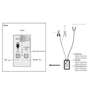 Image 5 - 1 комплект тестер автомобильного топливного инжектора EM276 инструмент для сканирования топливной системы инжектор анализатор автомобиля инструменты для диагностики автомобиля с 4 импульсными режимами