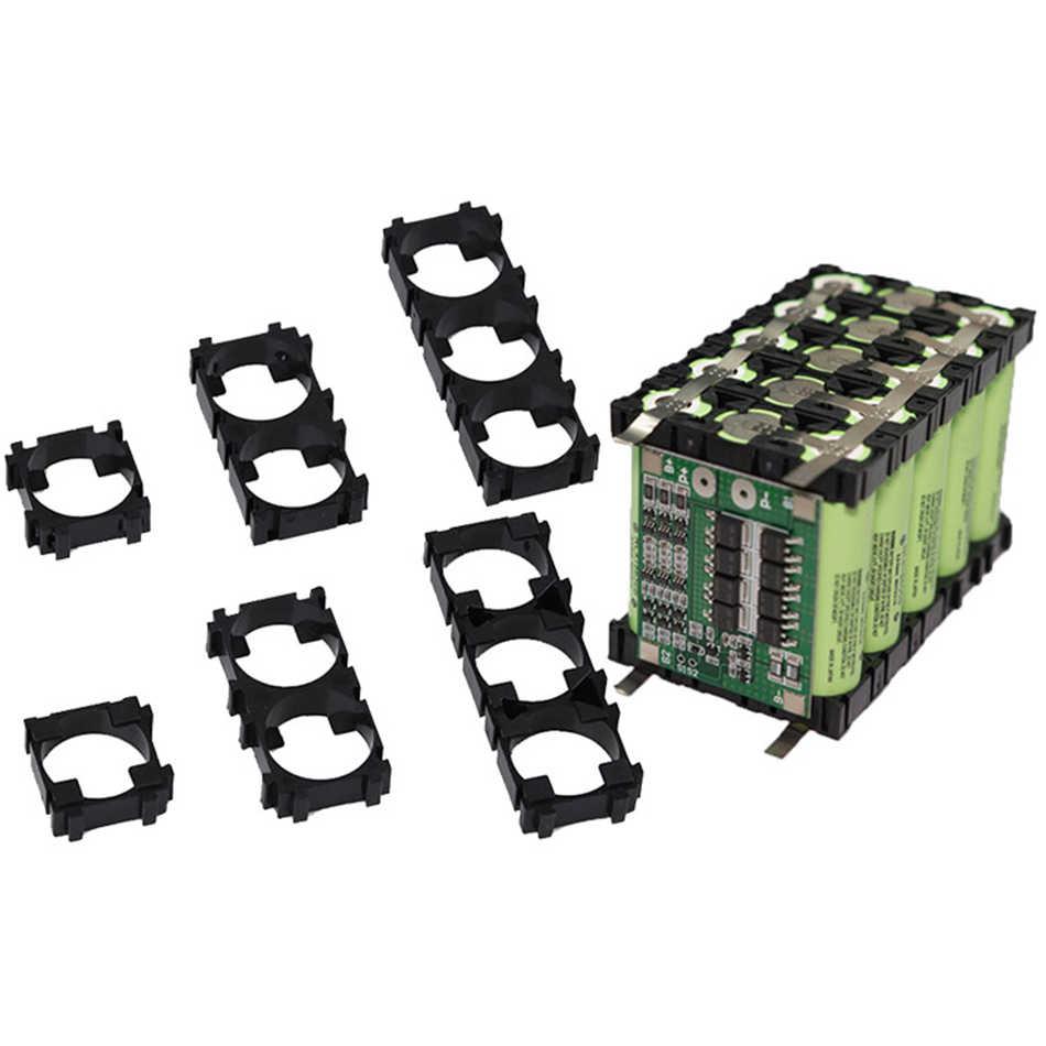 Держатель для литиевых батарей 20 шт./лот 18650, пластиковый комплект батарей, кронштейн, цилиндрическая подставка для батарей для самостоятел...