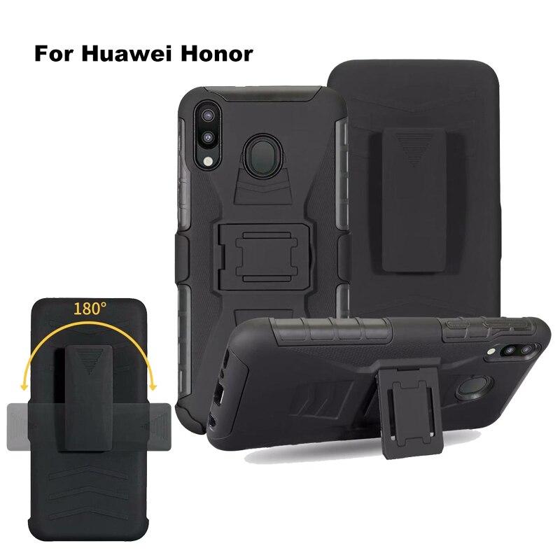 Сверхпрочный Прочный чехол с зажимом для ремня для huawei Honor Y7 Y9 prime P smart plus Z 2019 10 P30 lite Pro NOVA 3i 4E чехол