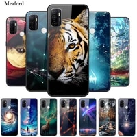 for oppo a53s cases 2020 cartoon painted hard pc back cover for oppo a53s cph2135 a 53s a53 s glass phone case oppoa53s bumper