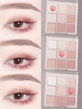 Vongee 9 cores fosco nu sombra paleta moda glitter sombra de olho maquiagem conjunto duradouro portátil contorno de olhos cosméticos tslm2