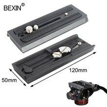 BEXIN Quick Release Platte adapter montieren Schiebe 501PL Schnelle Verbinden Basis für Manfrotto 501 503 701 Q5 Kamera Stativ Zubehör