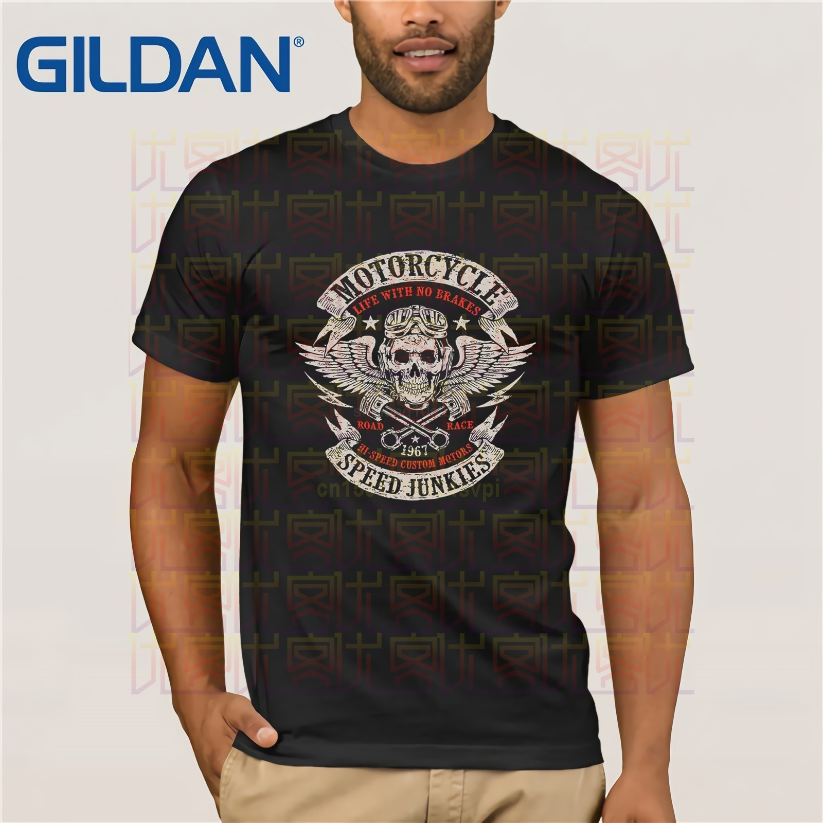 Ropa divertida, pantalón corto Casual, camisetas de manga corta, camisetas de velocidad para motociclistas, camisetas Mc Chopper Motard