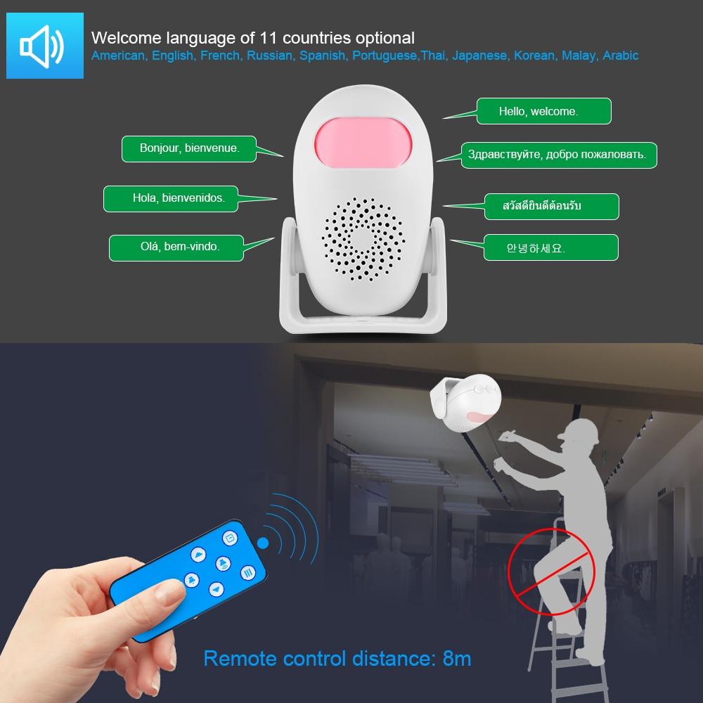 Motion Detector Security Alarm Detector Anti-theft  Motion Sensor Detector Welcome Doorbell Human Body Detector enlarge