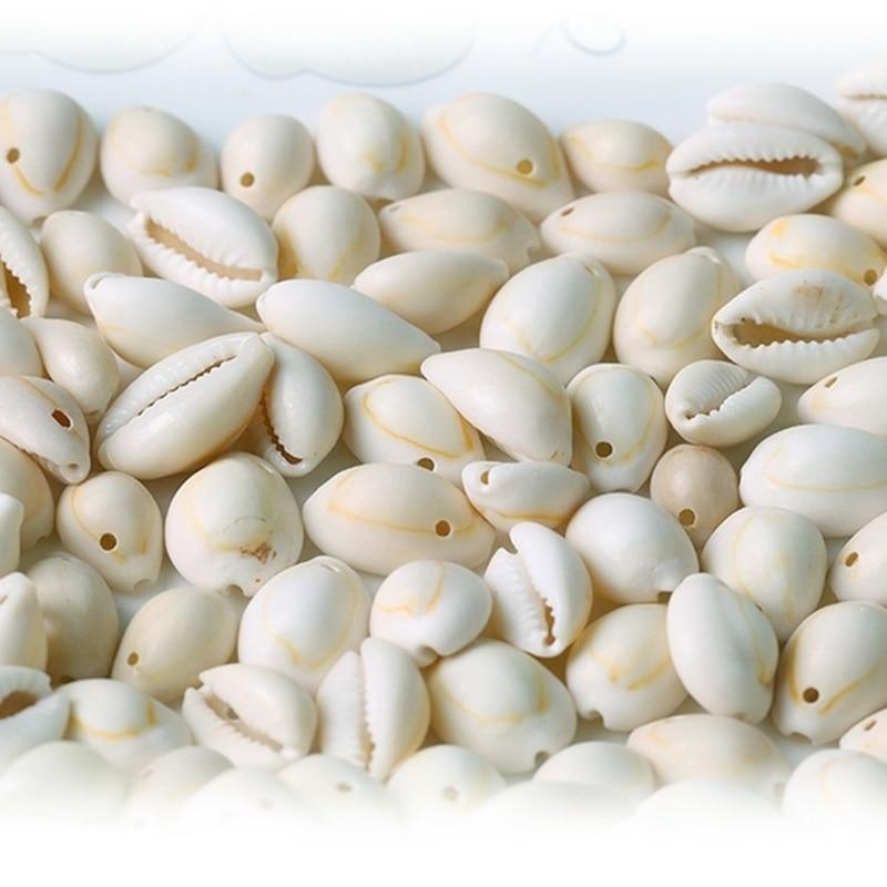 50Pcs לחתוך קונכייה ים Shell Cowrie Cowry קסם חרוזים חוף ממצאי תכשיטי צמיד תליון DIY קרפט נשים שרשרת ביצוע