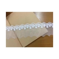 exquisite embroidery mesh lace white cotton mesh embroidery lace accessories 6cm wide