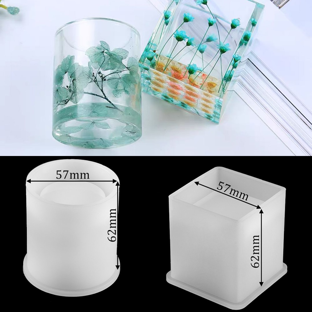 1Pcs Pen holder Crystal Silicone Casting Molds Sets Mixed Style Epoxy Resin Molds For DIY Jewelry Making Findings Supplies Kits