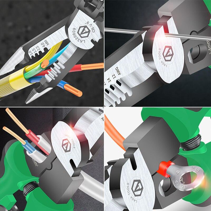 Multifunkcionális villanyszerelő fogó, hosszú orrfogó, - Kézi szerszámok - Fénykép 6