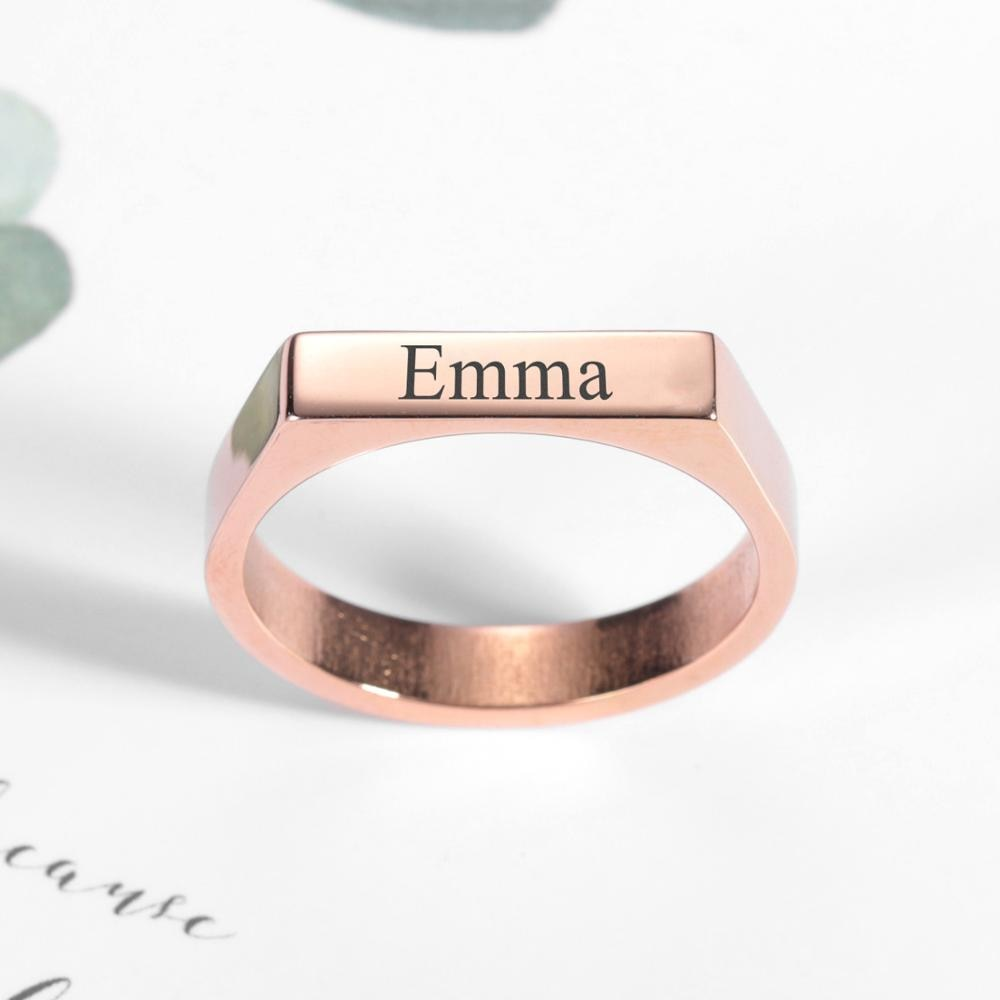 Персонализированные имя кольцо индивидуальная из нержавеющей стали на заказ кольца для мужчин и женщин ювелирные изделия Выгравировано Название кольца с декоративной надписью Рождественский подарок