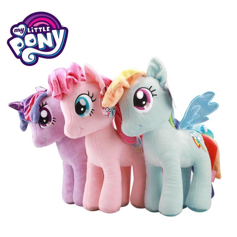 Regalo de Cumpleaños genuino My Little Pony muñeco de peluche princesa Anime peluche unicornio Arco Iris caballo bebé niñas