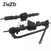12pcs rc car front rear straight complete axle for 110 rc crawler axial scx10 ii 90046 90047 upgrade parts w09