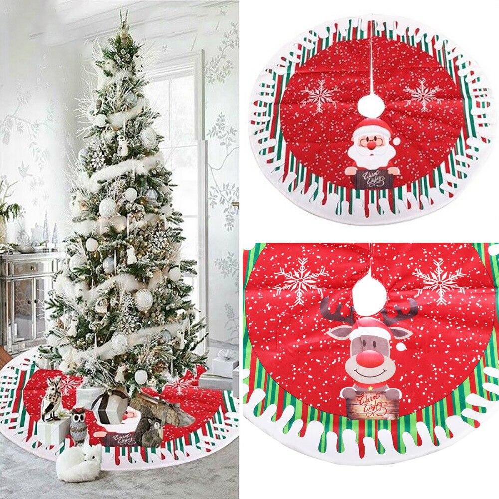 Falda de árbol de navidad para decoración del hogar, alfombrilla Base de...