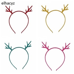 6pcs/lot New Christmas Headband Children Hairbands Plastic Headwear Party Cosplay 6 Colors Hair Accessories for Children