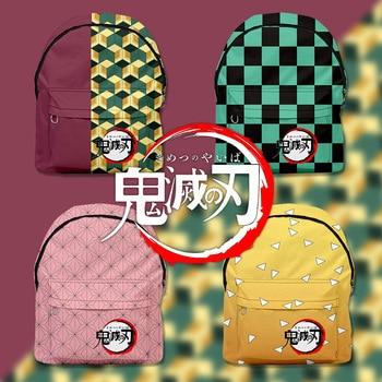 3D аниме принтом демон рюкзак Slayer Kimetsu без Yaiba Косплэй томилочка Giyuu Mochila сумки для школьников студентов костюм Косплэй сумки