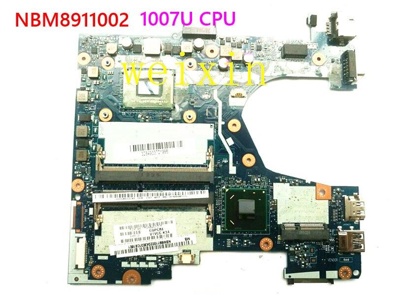 De alta calidad para Acer V5-131 V5-171 placa base de computadora portátil con 1007u CPU NBM8911002 NB M8911.002 Q1VZC LA-8943P prueba