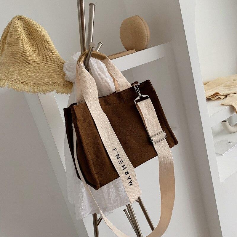 Новая креативная Холщовая Сумка, Женская Повседневная сумка-мессенджер с большой емкостью, простая Корейская версия художественной тканев...