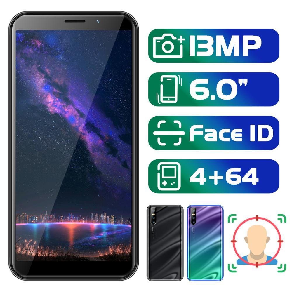 Note8 Pro 6.0 cal ekran 18:9 face id telefonu komórkowego 4G RAM 64G ROM MTK smartfony z systemem android 13MP kamera celulares odblokowane telefony