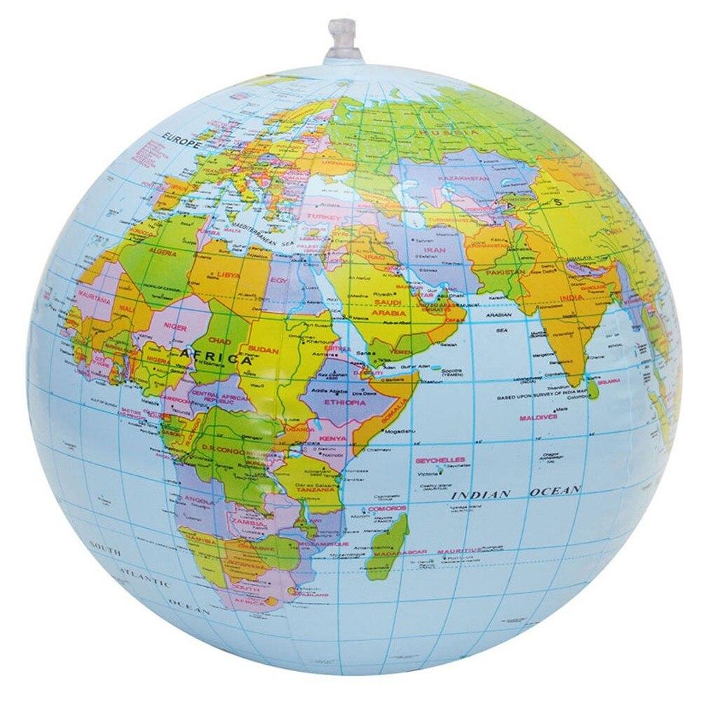Мяч для бассейна надувной пляжный мяч карта мира водные игры развлекательный