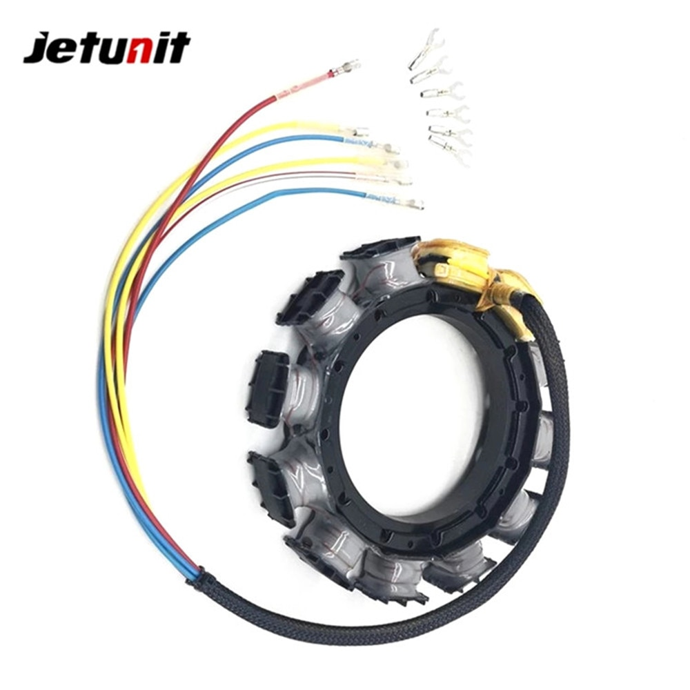 Outboard Stator For Mercury 1987-1997(45JET,50,55,60,65 JET,70,75,80,90&95HP–3Cyl) 398-9710A43,A45,A46,A47,A48,A49 398-9873A9 enlarge