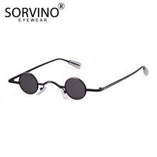 SORVINO 2020 rétro lunettes de soleil pour femmes hommes marque concepteur 90S maigre petit rond lunettes de soleil noir jaune nuances holographique