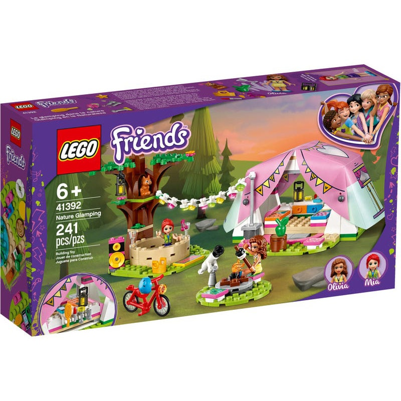 LEGO 41392 serie de amigos, naturaleza Glamping, LEGO Friends, mini-muñecas Juguetes de bloques de construcción, regalo de Navidad