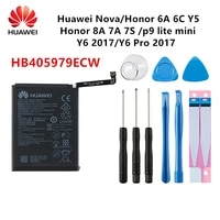 hua wei 100 orginal hb405979ecw 3020mah battery for huawei nova enjoy 6s y6 y6 pro 2017 2017 p9 lite mini tools