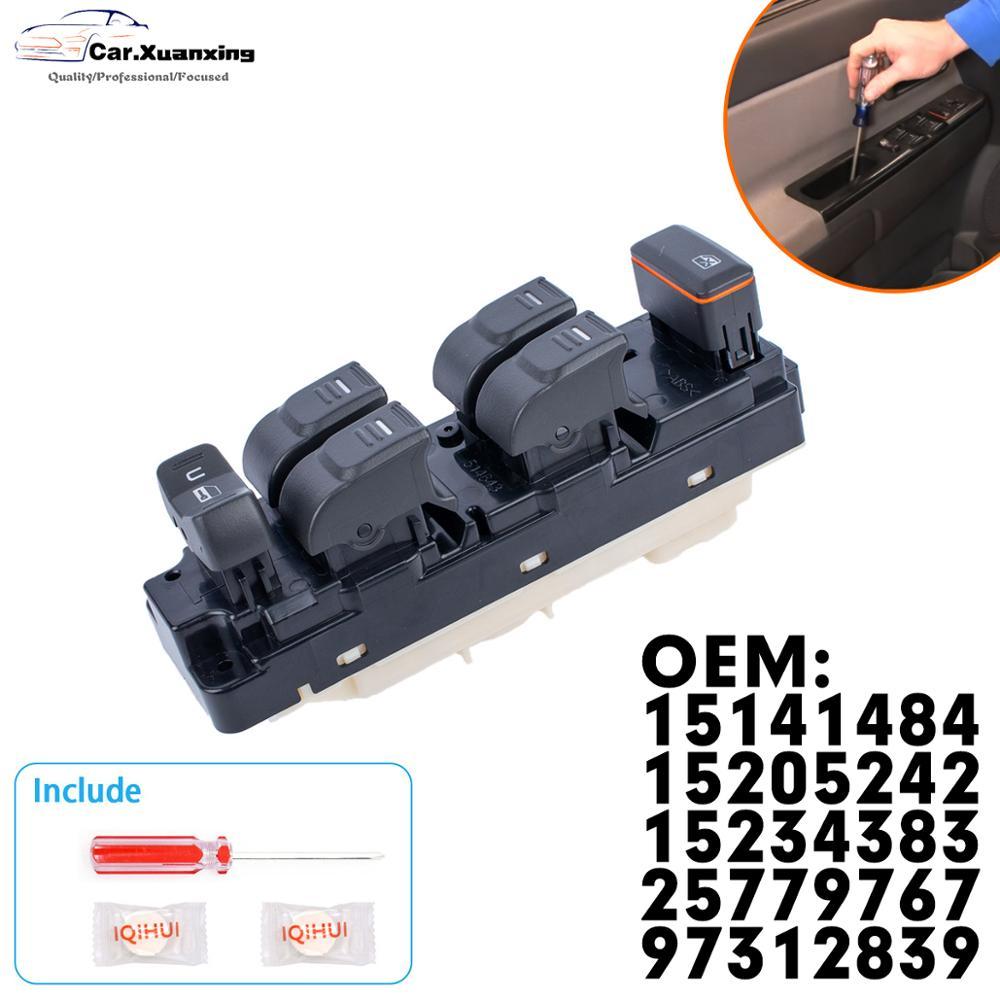 Interruptor de control principal del elevador de ventana de energía delantera 25779767 botón regulador eléctrico para GM Chevrolet Colorado Hummer