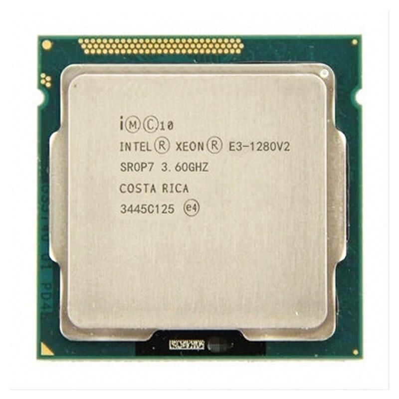 Процессор Intel Xeon E3-1280 V2 e3 1280 v2 8 Мб кэш-памяти, четырехъядерный процессор 3,6 ГГц LGA1155 настольный процессор