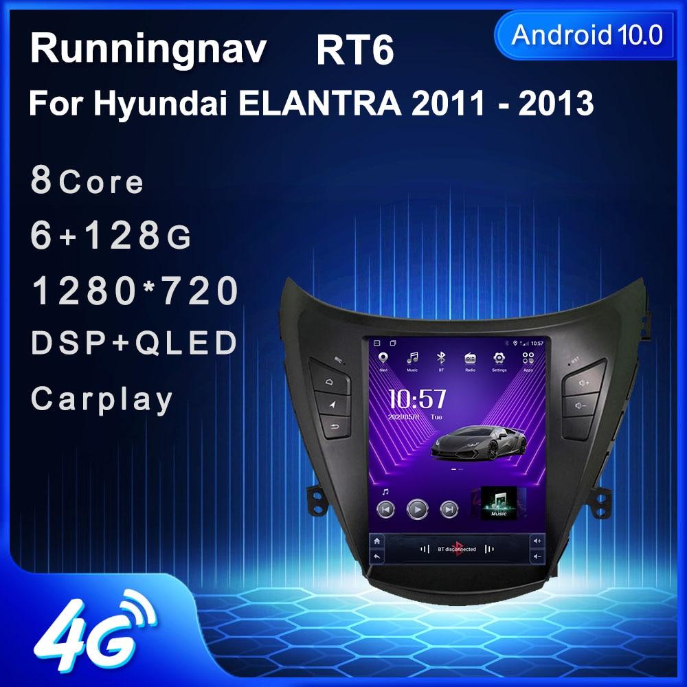 4G LTE أندرويد 10 لشركة هيونداي إلنترا 2011 2012 2013 تسلا نوع الوسائط المتعددة ستيريو مشغل أسطوانات للسيارة لاعب الملاحة راديو GPS