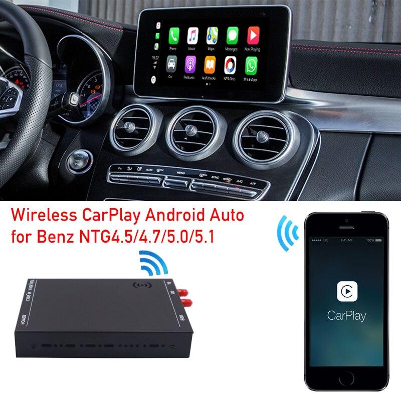 Promo Car radio upgrade wireless apple carplay interface box for mercedes C class W205 GLC X253 dvd multimedia android auto decoder