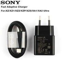 Originale Adaptive Da Viaggio Veloce Caricabatterie Per Il Sony Xperia L1 G3312 XA1 Piu XA1 Ultra G3116 XA2 Ultra X Compact XZs XZ2 Tipo-C Cavo