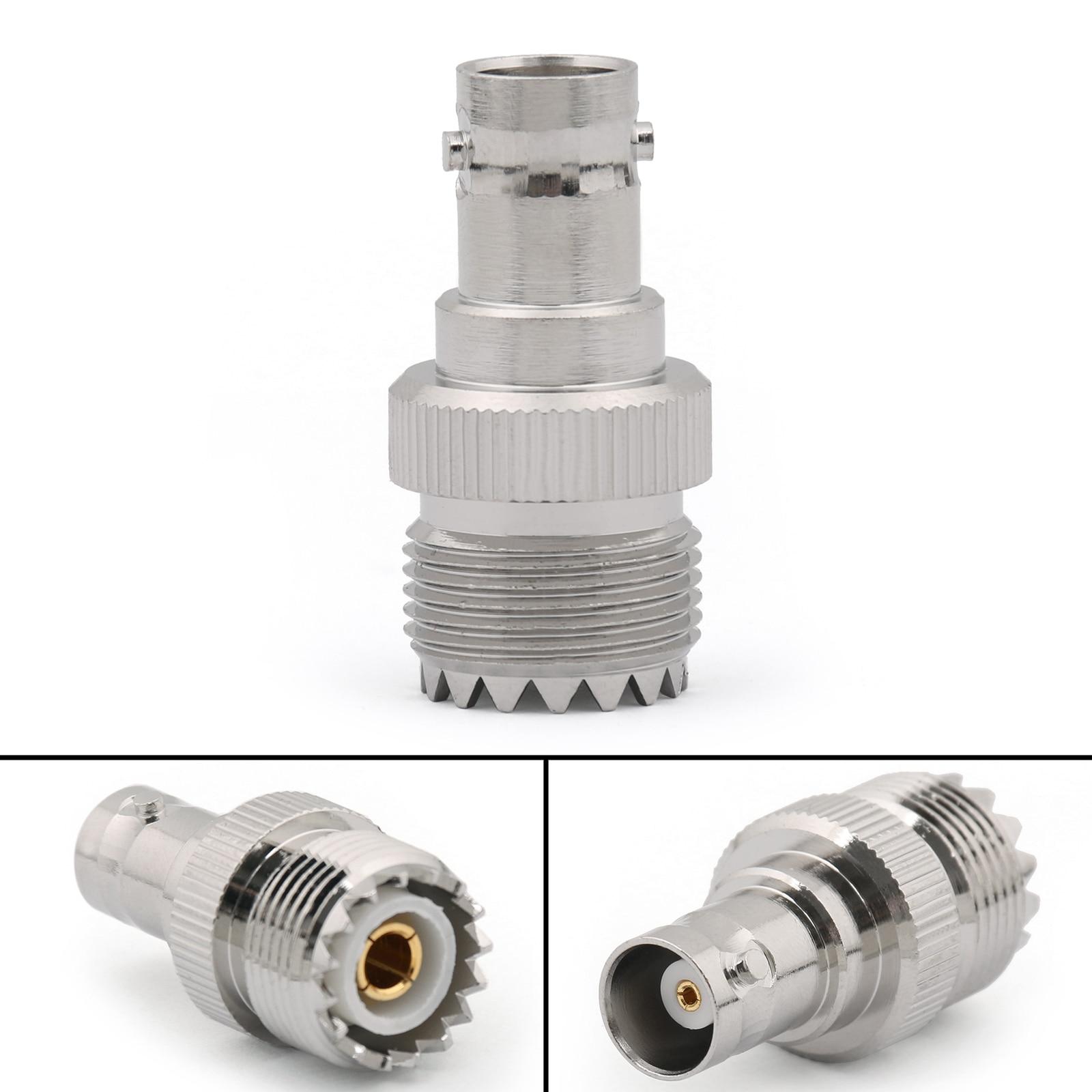 Artudatech 10 قطعة UHF الإناث PL259 جاك إلى BNC أنثى جاك مستقيم RF موصل محول التوصيل أجزاء