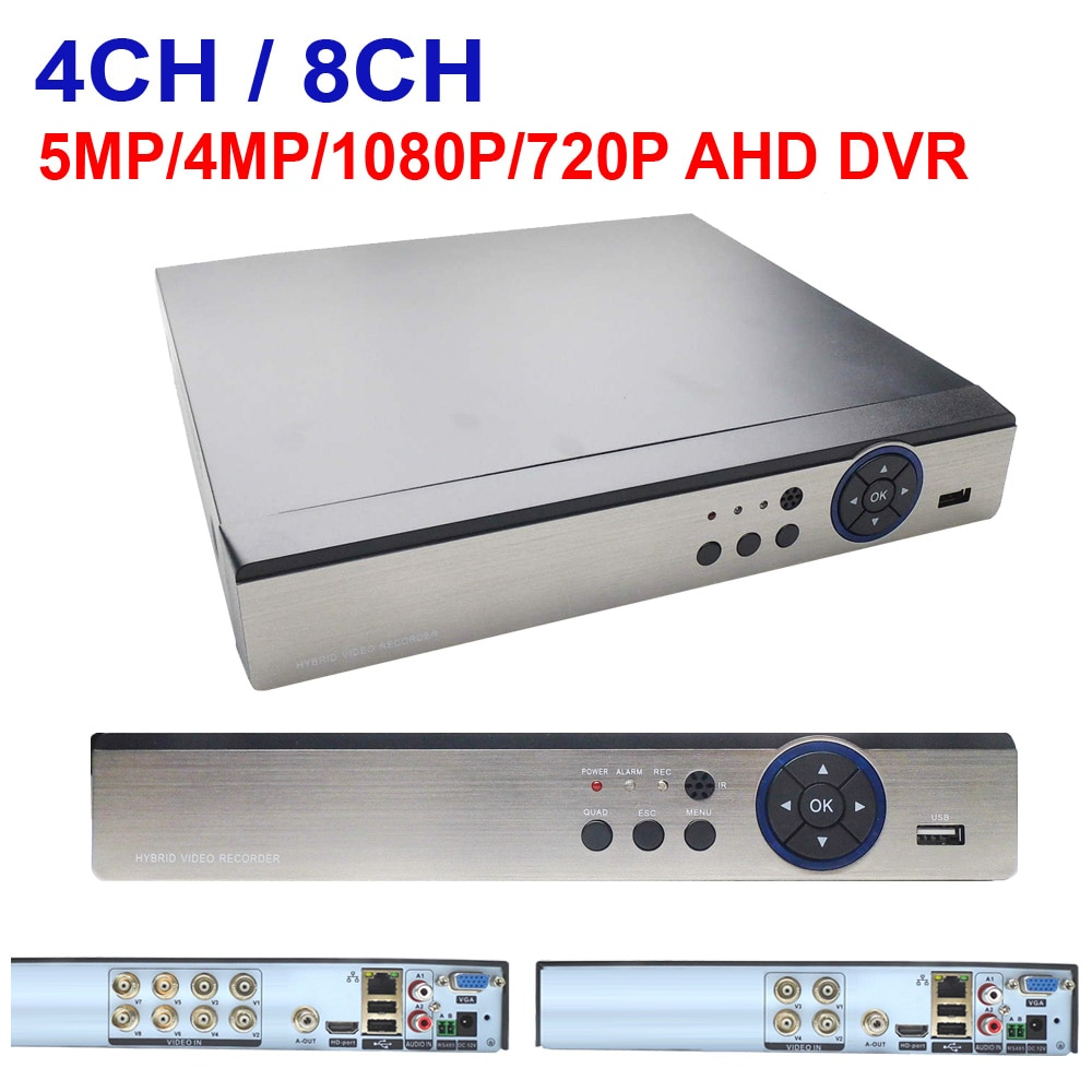 AHD DVR 4CH 8CH 5MP 4MP 1080N 720P Video Surveillance Security CCTV Recorder Hybrid HD Recorder For Analog AHD CVI TVI IP Camera 8 channel ahd video recorder h 265 5mp 4mp 1080p 5 in 1 hybrid dvr 8ch wifi xvi tvi cvi ip nvr for home cctv camera surveillanc