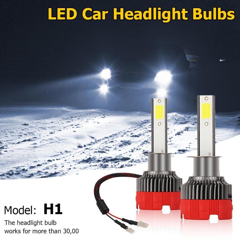 2 uds EV18 coche bombillas de faros H7/H11/H1/9005/9006/H4 LED bombillas de faros 6000K 6000LM 9-30V DC IP65 impermeable luz del coche