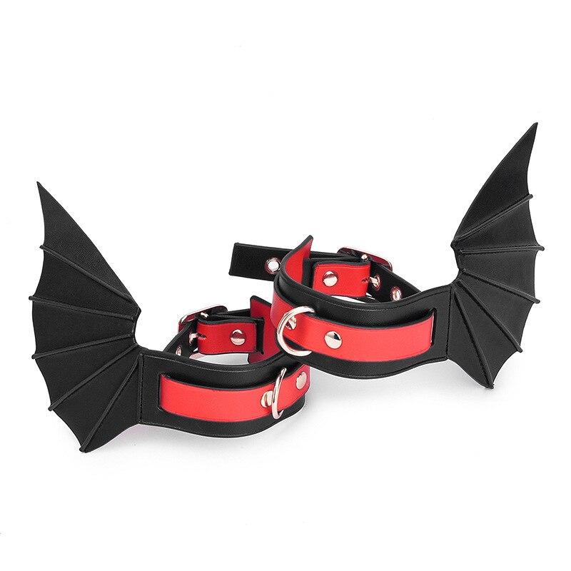 БДСМ летучая мышь наручники для взрослых Эротические крылья демона бондаж Регулируемый раб игра флирт из искусственной кожи интимные аксе...